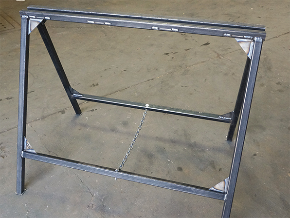 sawhorse folding heavy welded